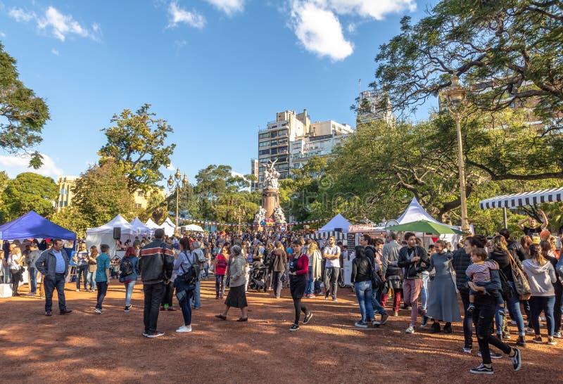 在广场Francia -布宜诺斯艾利斯,阿根廷的法国市场 库存图片