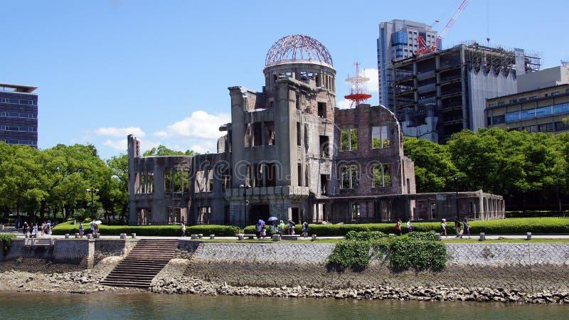 在广岛和平纪念公园的原子圆顶 免版税库存照片