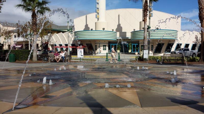 在庆祝FL的喷泉 库存图片