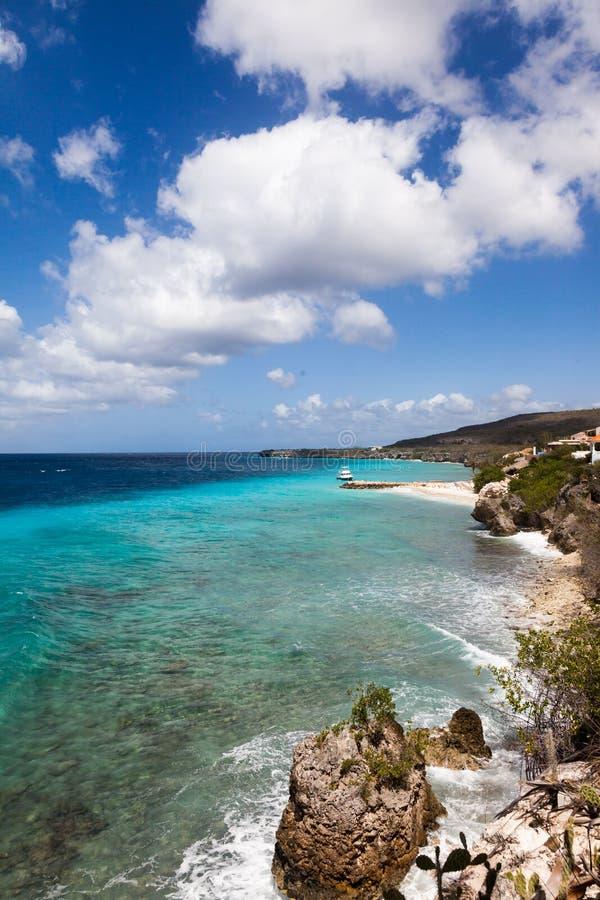 在库拉索岛加勒比岛附近的看法 免版税库存图片