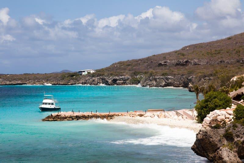 在库拉索岛加勒比岛附近的看法 免版税图库摄影