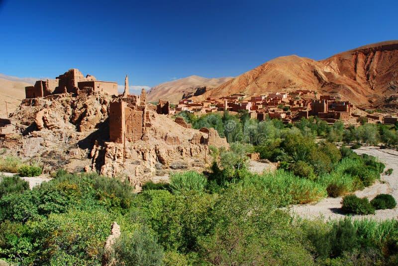在废墟的Kasbah。Dades峡谷,摩洛哥 库存照片