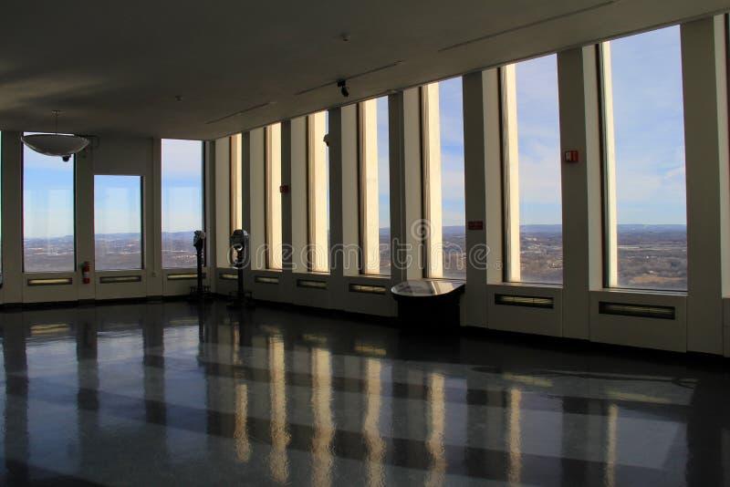 在康宁塔的观察地板,阿尔巴尼,纽约, 2016年 免版税库存照片