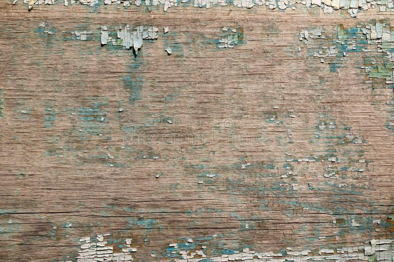 在建筑构造老被绘的胶合板,食物或者样品工业平的层背景大模型或设计样式的  免版税库存图片