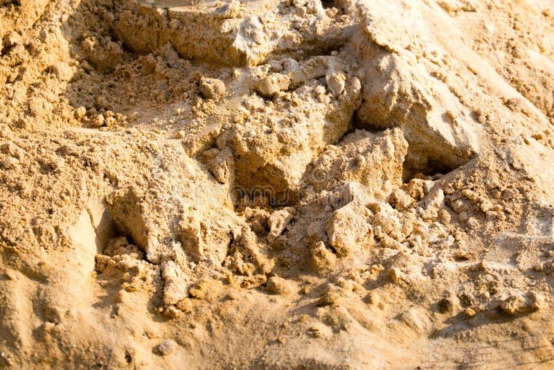 在建造场所的沙子作为抽象背景 库存照片