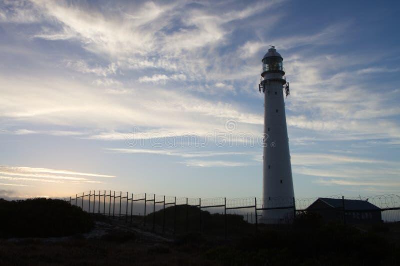 在开普敦附近的Slangkop灯塔 图库摄影