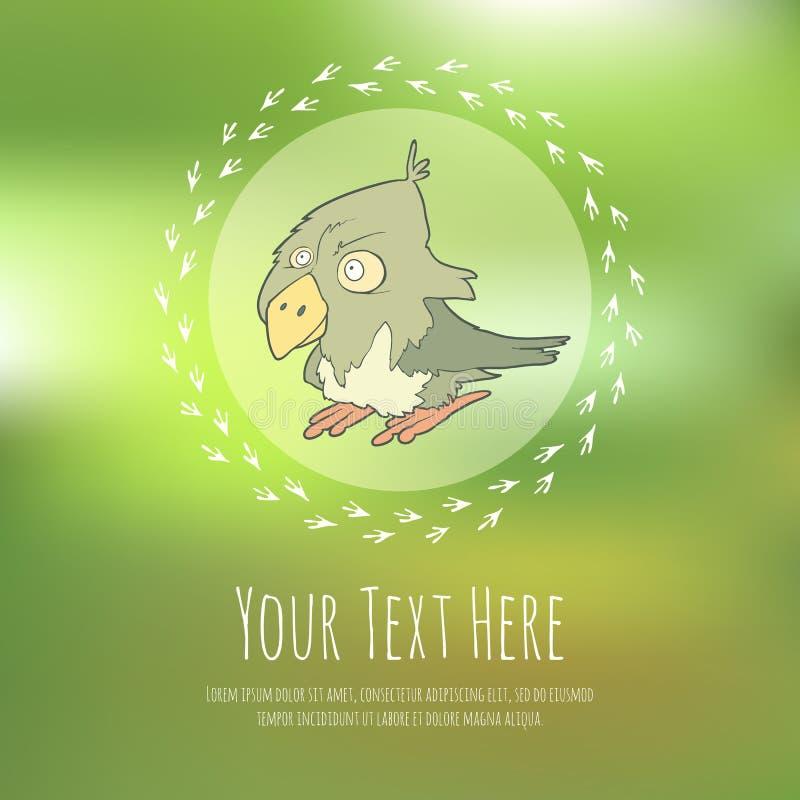 在弄脏的手拉的传染媒介动画片鸟 皇族释放例证