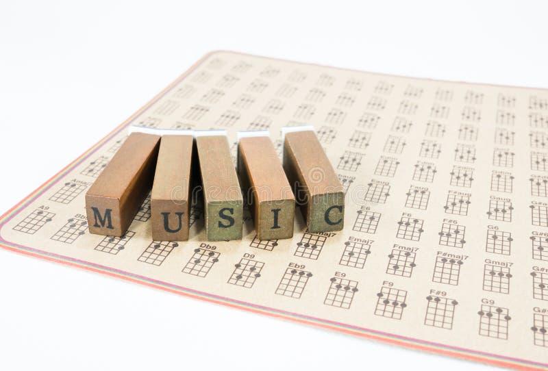 在弦尤克里里琴的音乐 免版税库存图片