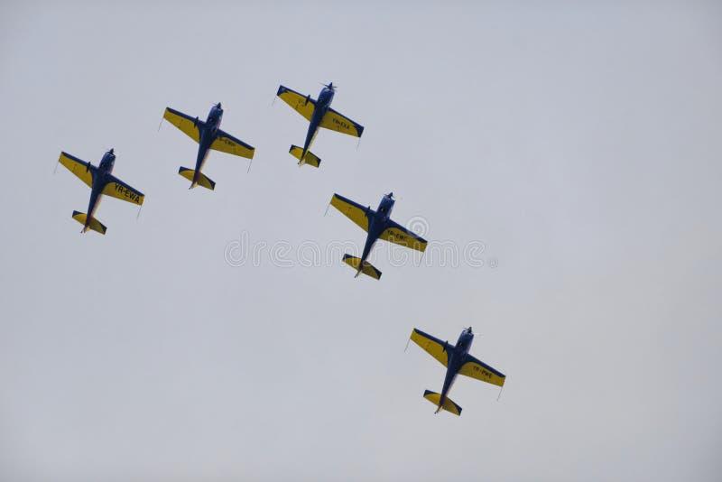 在形成的飞机 免版税库存图片