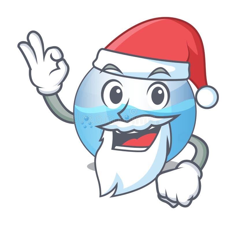 在形状吉祥人的圣诞老人微型碗水族馆 向量例证