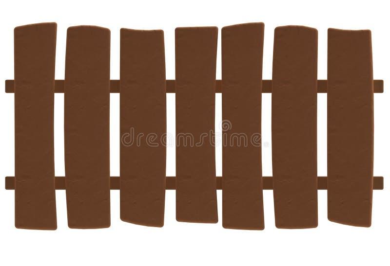 在彩色塑泥或黏土样式的动画片木篱芭 向量例证