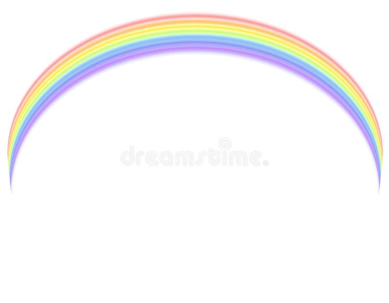 在彩虹向量白色 向量例证