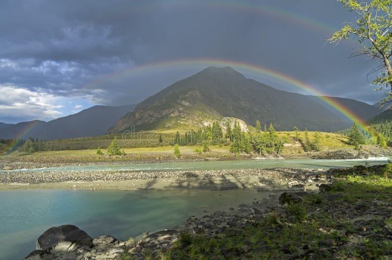 在彩虹河 Altai山,俄国 图库摄影