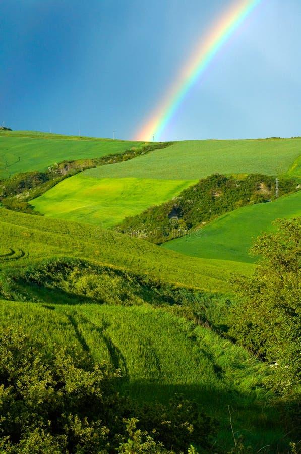 在彩虹的域 免版税图库摄影
