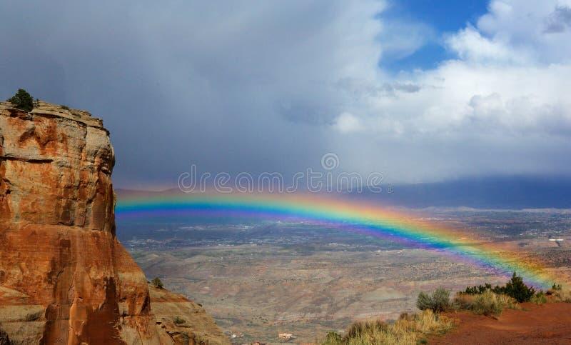 在彩虹的Grand Junction 图库摄影
