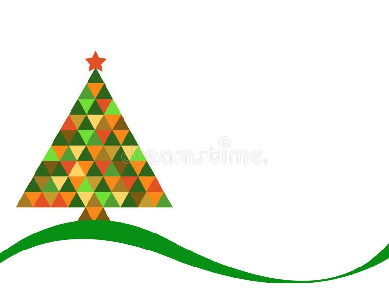 在彩虹颜色的圣诞树 皇族释放例证