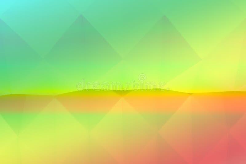 在彩虹颜色的镜子反映的白色origami背景 皇族释放例证