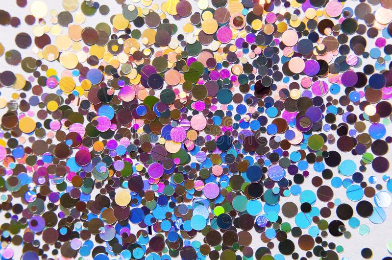 在彩虹颜色的闪烁全息照相的背景 欢乐Backgr 免版税图库摄影