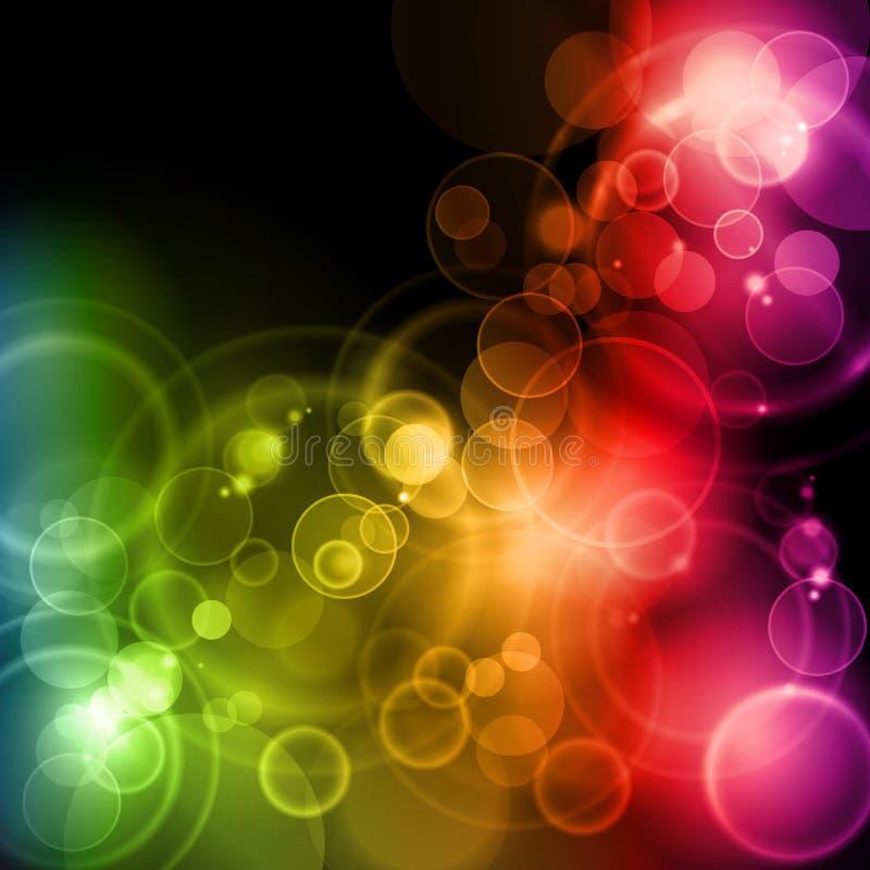 在彩虹颜色的魔术光 库存例证