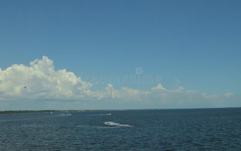 在彭萨科拉海湾的夏天Watersports 免版税库存照片