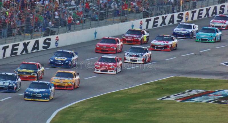 在得克萨斯汽车赛车场的全国运动汽车竞赛协会 免版税库存图片