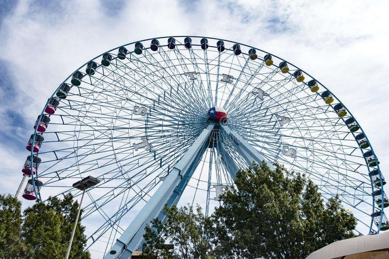 在得克萨斯状态市场的得克萨斯名星弗累斯大转轮  库存图片