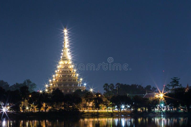 在微明的寺庙 库存图片