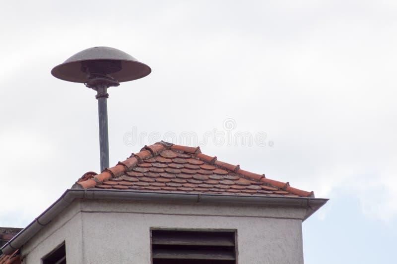 在德国屋顶上 免版税库存图片