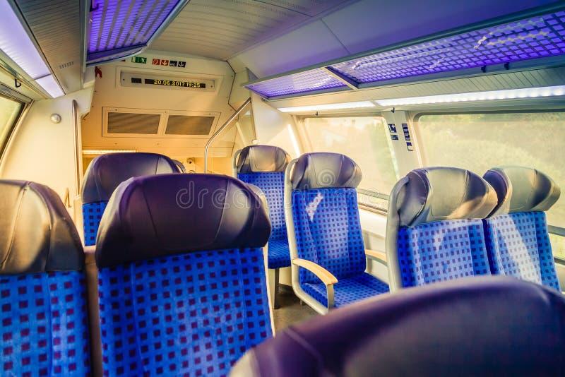 在德国火车里面 免版税库存照片