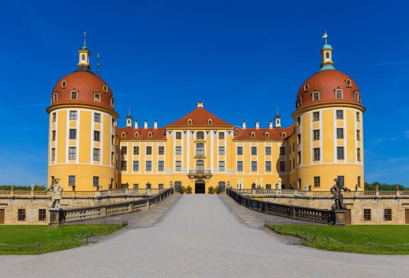 在德累斯顿附近的城堡莫里茨堡在萨克森,德国 免版税库存照片