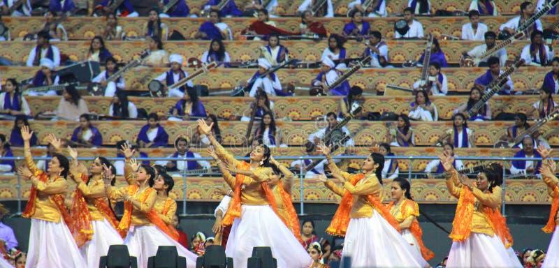 在德里3月11-13 2016古典舞蹈女孩的WCF 免版税库存图片