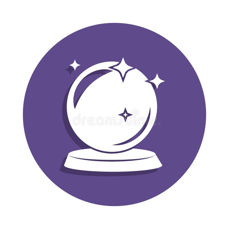 在徽章样式的不可思议的球象 一不可思议的汇集象可以为UI, UX使用 皇族释放例证