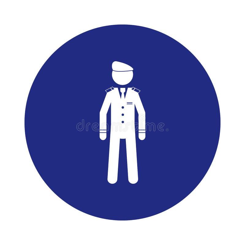 在徽章样式的剪影军事贝雷帽象 一特勤汇集象可以为UI, UX使用 皇族释放例证