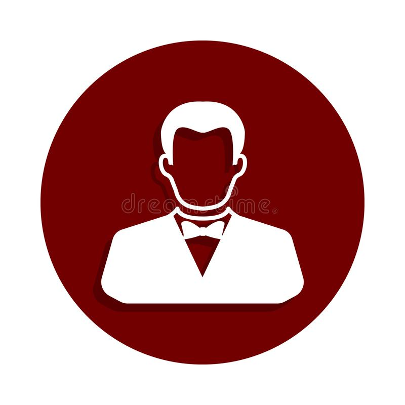 在徽章样式的副主持人象 一赌博娱乐场汇集象可以为UI UX使用 向量例证