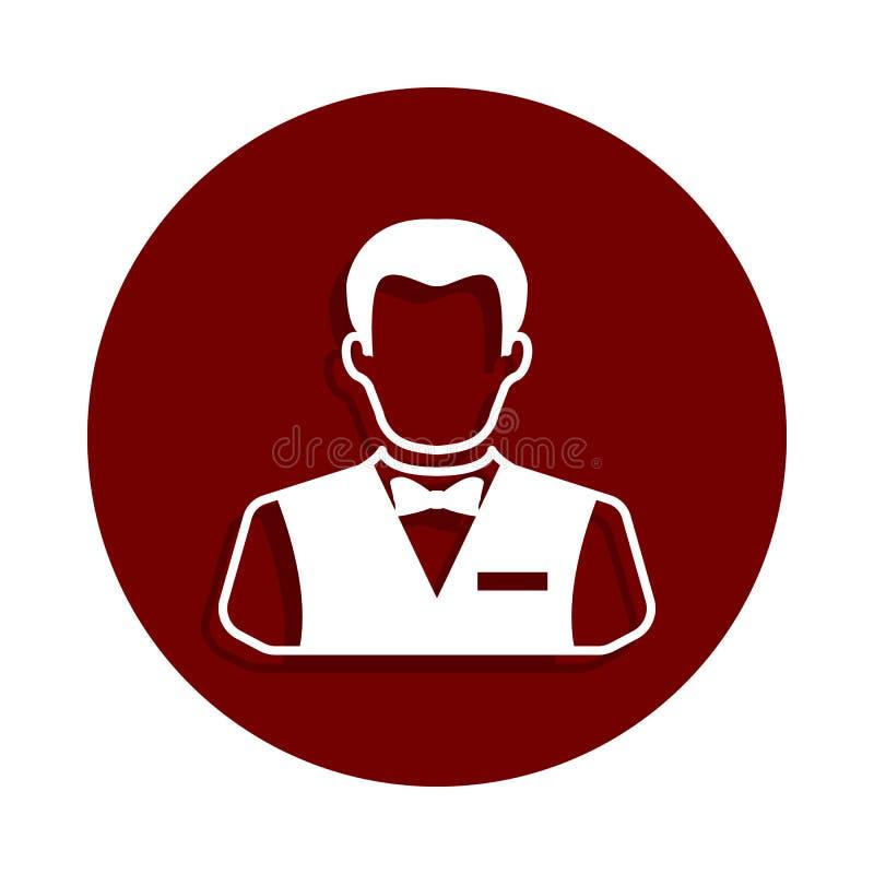 在徽章样式的副主持人象 一赌博娱乐场汇集象可以为UI UX使用 皇族释放例证