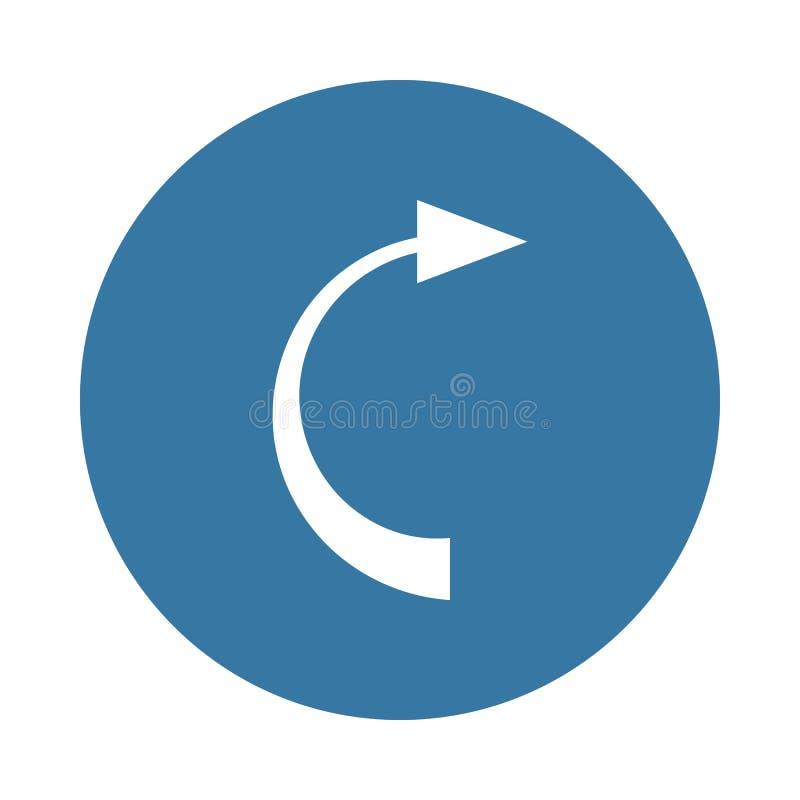 在徽章样式的后面箭头象 库存例证