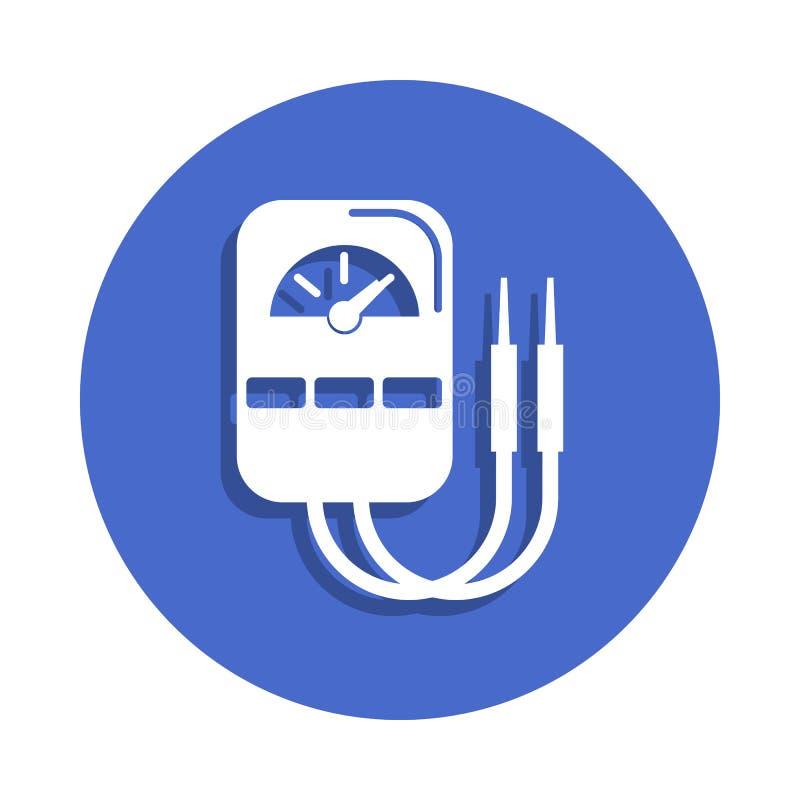 在徽章样式的多用电表象 一电镀汇集象可以为UI, UX使用 向量例证