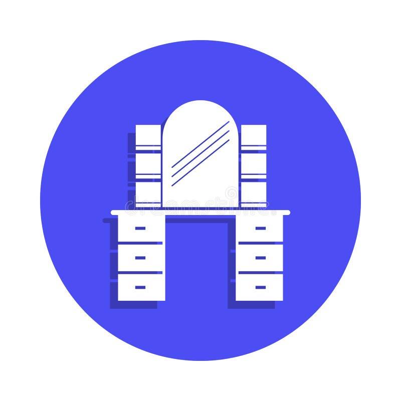 在徽章样式的平的理发店象 一理发师汇集象可以为UI, UX使用 库存例证