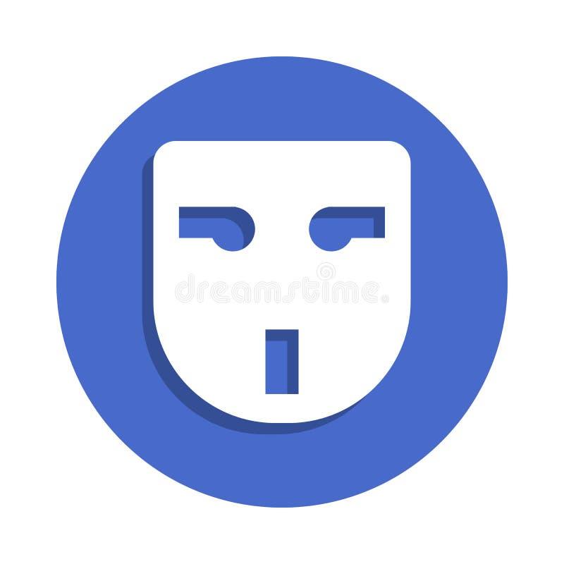 在徽章样式的插口象 一电镀汇集象可以为UI, UX使用 向量例证
