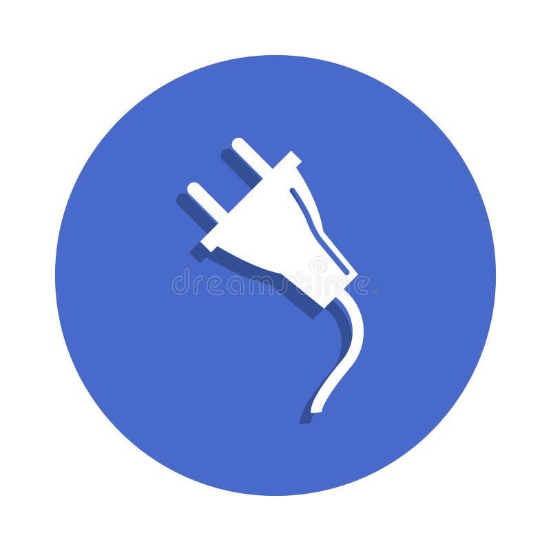 在徽章样式的插座象 一电镀汇集象可以为UI, UX使用 向量例证