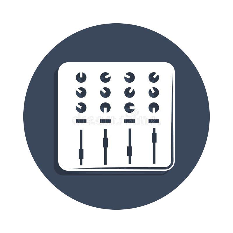 在徽章样式的混音器象 一音乐汇集象可以为UI, UX使用 库存例证