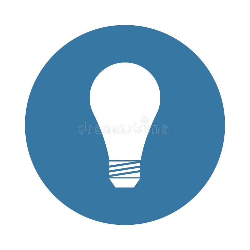 在徽章样式的电灯泡象 向量例证