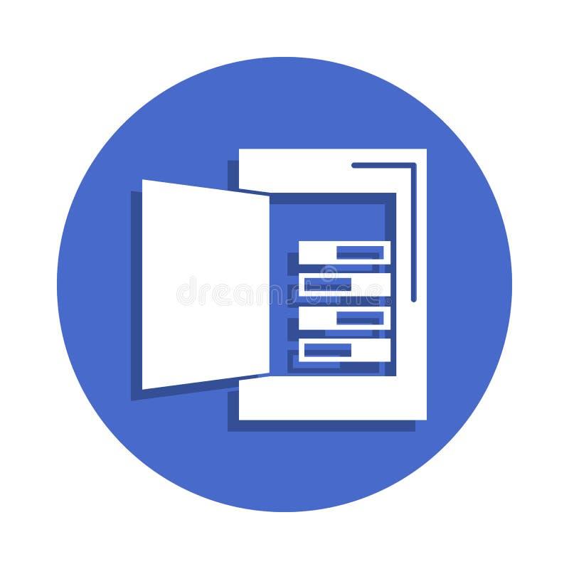 在徽章样式的电箱子线象 一电镀汇集象可以为UI, UX使用 向量例证