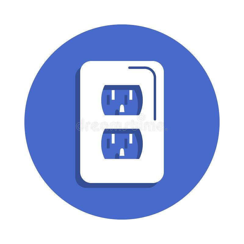 在徽章样式的电箱子线象 一电镀汇集象可以为UI, UX使用 皇族释放例证