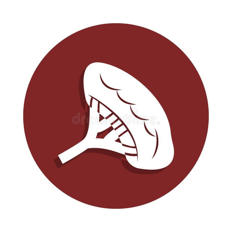 在徽章样式的肾脏象 一器官汇集象可以为UI, UX使用 向量例证