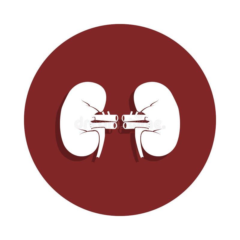在徽章样式的肾脏象 一器官汇集象可以为UI, UX使用 皇族释放例证