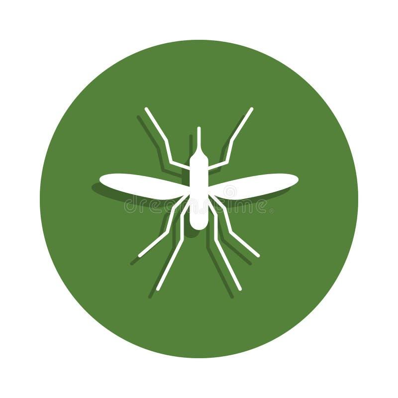 在徽章样式的蚊子象 一昆虫汇集象可以为UI, UX使用 皇族释放例证