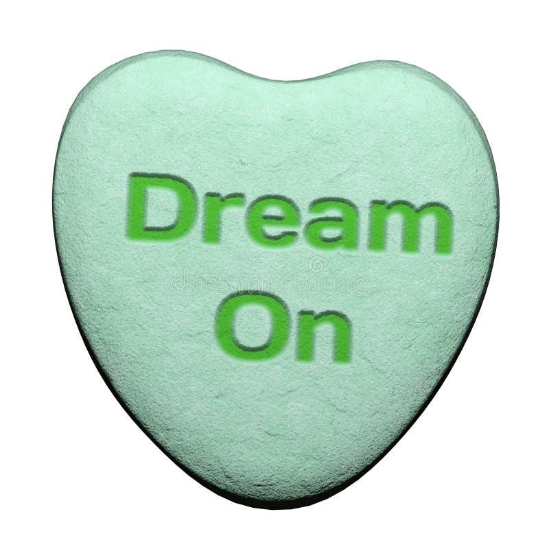 在心脏形状的甜糖果  库存照片