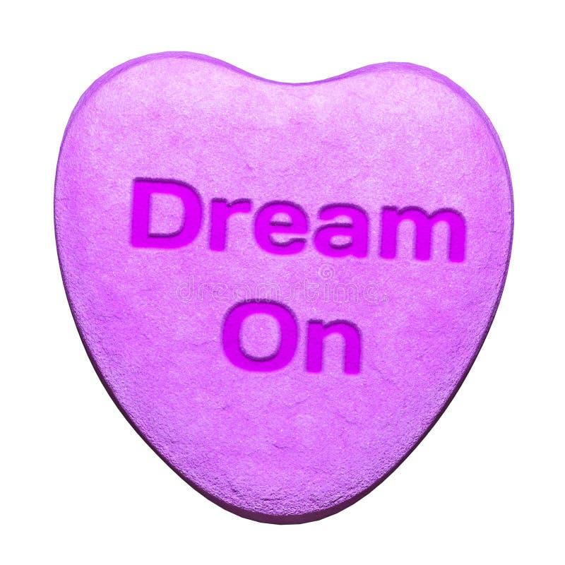 在心脏形状的甜糖果  库存图片