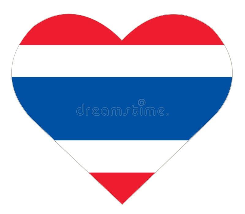在心脏象,泰国旗子传染媒介的泰国旗子 向量例证